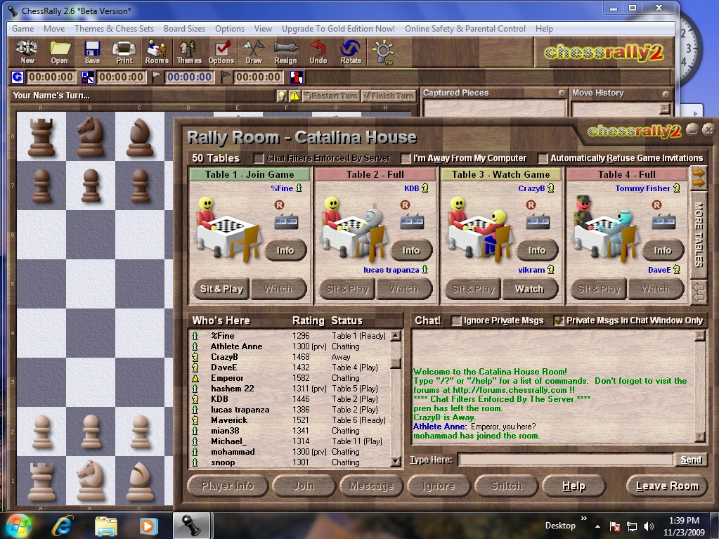 ChessRally - Full-featured Internet & Single-Player chess.